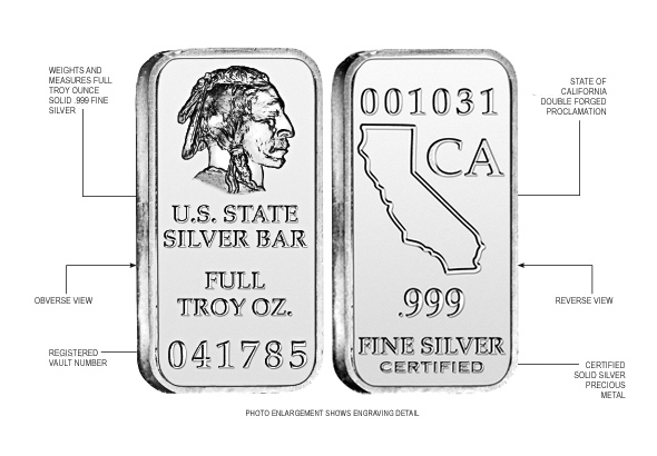 California State Silver Bar