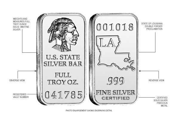 Louisiana State Silver Bar