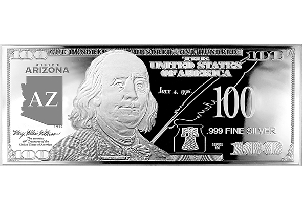 Arizona Silver $100 Bill