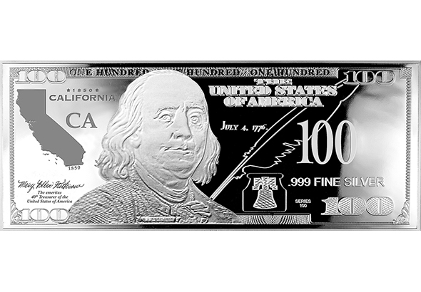 California Silver $100 Bill