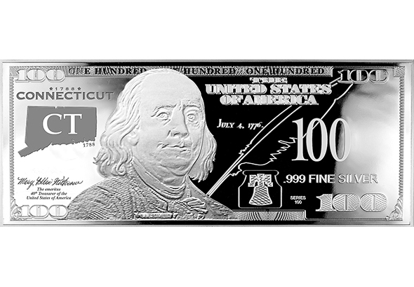 Connecticut Silver $100 Bill