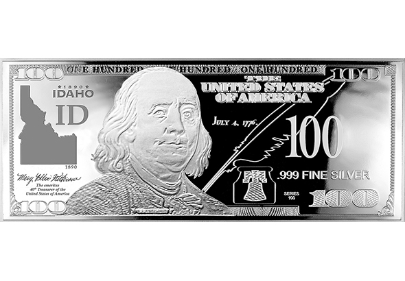 Idaho Silver $100 Bill