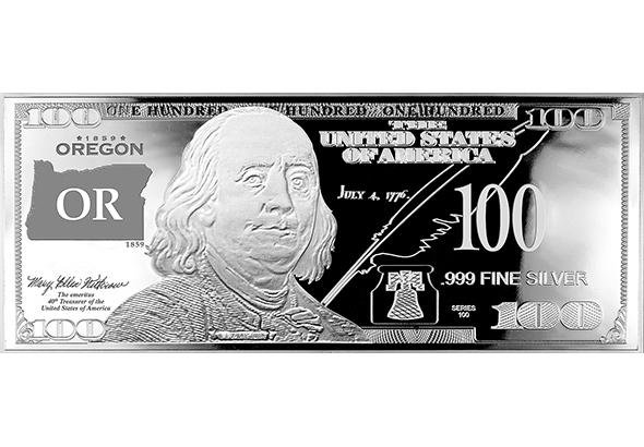 Oregon Silver $100 Bill