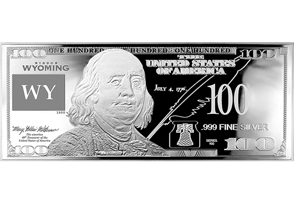 Wyoming Silver $100 Bill